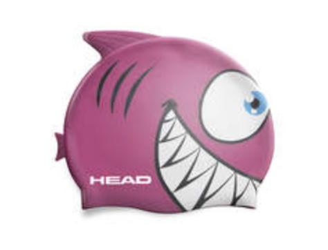 Badehaube Kinder Hai rosa