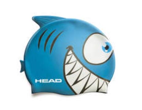 Badehaube Kinder Hai blau