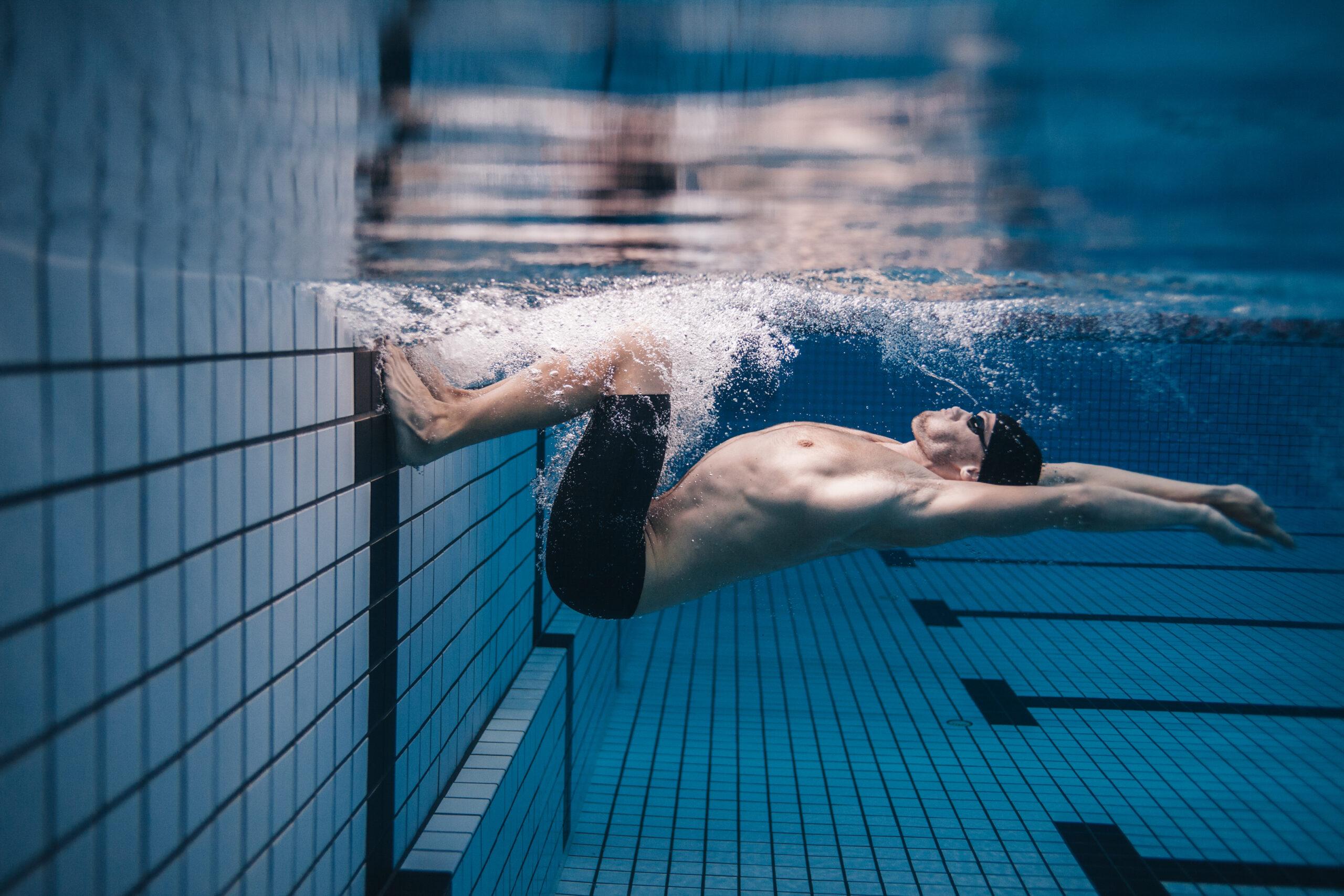 Videoanalyse Schwimmer unter Wasser